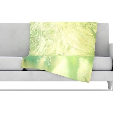 KESS InHouse Love You More Fleece Throw Blanket; 60'' L x 50'' W