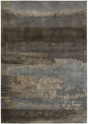 Calvin Klein Rugs Luster Wash Hand Woven Wool Slate/Brown Area Rug; Rectangle 8'3'' x 11'