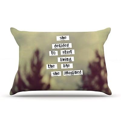 KESS InHouse Her Life Pillowcase; King WYF078275776550
