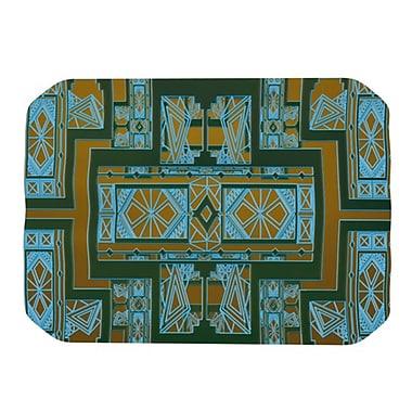 KESS InHouse Golden Art Deco Placemat; Green and Blue