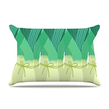 KESS InHouse Leeks Pillowcase; Standard