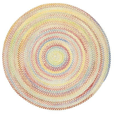 Capel Baby's Breath Buttercup Kids Area Rug; Round 3'