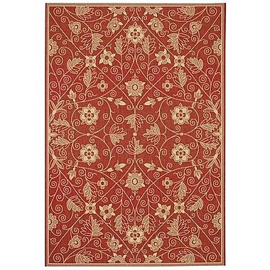 Capel Elsinore Red Indoor/Outdoor Area Rug; 7'10'' x 11'