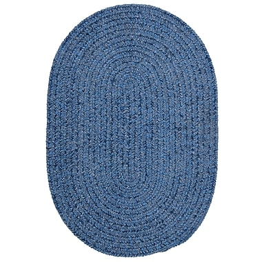 Colonial Mills Spring Meadow Petal Blue Area Rug; Round 4'