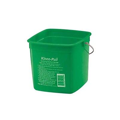 San Jamar KP97GN 3 qt. Plastic Kleen Pail, Green