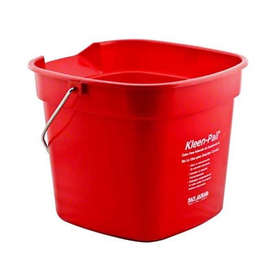 San Jamar KP320RD 10 qt. Plastic Kleen Pail, Red