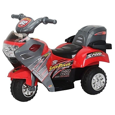 Best Ride On Cars Super Power 6V Battery Powered Motorcycle; Red