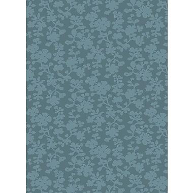 Candice Olson Luminous Sea Blue Floral Area Rug; 2' x 3'
