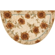 Brumlow Mills Delicate Sunflower Kitchen Rug; Half Circle 1'7'' x 2'7''