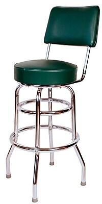 Richardson Seating Retro Home 30'' Swivel Bar Stool; Green