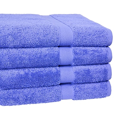 Homestead Textiles Ring Spun Cotton Line Bath Towel 4 Piece Towel Set (Set of 4); Morning Glory