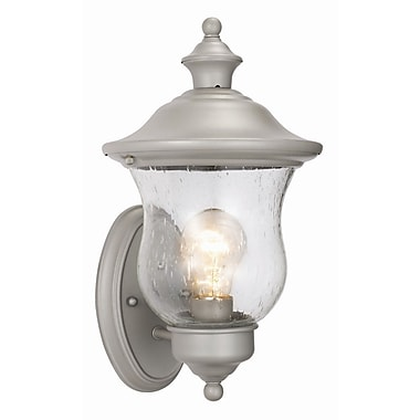 Design House Highland 1-Light Outdoor Sconce; Heritage Silver
