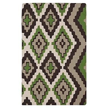 Beth Lacefield Alameda Black & Green Area Rug; Rectangle 2' x 3'
