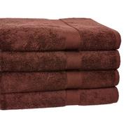 Homestead Textiles Ring Spun Cotton Line Bath Towel 4 Piece Towel Set (Set of 4); Coffee Bean