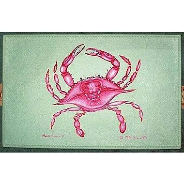 Betsy Drake Interiors Coastal Crab Doormat; Rectangle 18'' x 26''