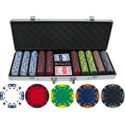 JP Commerce 500 Piece Z Striped Clay Poker Chip Set