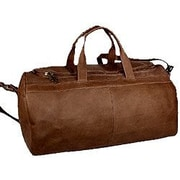 David King 19'' Leather Classic Carry-On Duffel; Cafe / Dark Brown