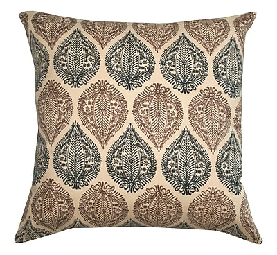 Divine Designs Kelsey Block Print Cotton Throw Pillow