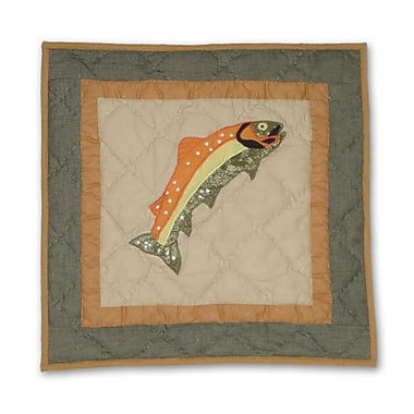 Patch Magic Fly Fishing Fish Cotton Throw Pillow