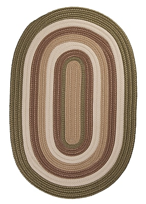 Colonial Mills Brooklyn Moss Braided Indoor/Outdoor Area Rug; Rectangle 3' x 5'