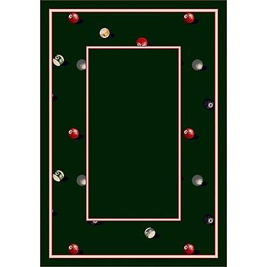 Milliken Design Center Emerald Billiards Area Rug; Runner 2'4'' x 15'6''
