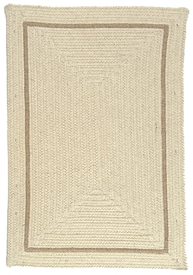 Colonial Mills Shear Natural Canvas Area Rug; Rectangle 4' x 6'
