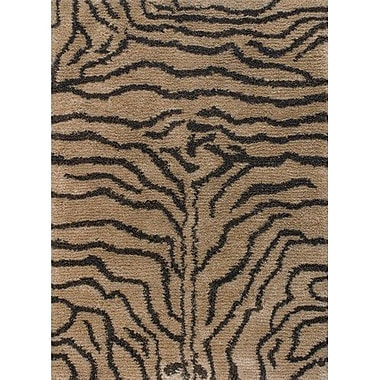 Chandra Amazon Brown / Tan Area Rug; 5' x 7'6''