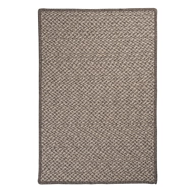 Colonial Mills Natural Wool Houndstooth Braided Latte Area Rug; 2' x 3'