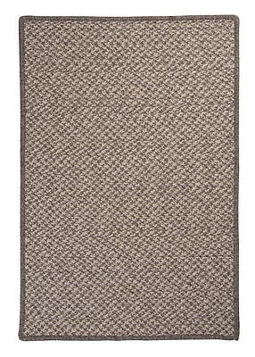 Colonial Mills Natural Wool Houndstooth Braided Latte Area Rug; Square 10'
