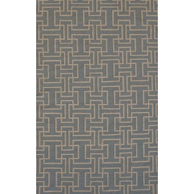 MOTI Rugs Flat Weave Sky Gray Area Rug; 5' x 8'