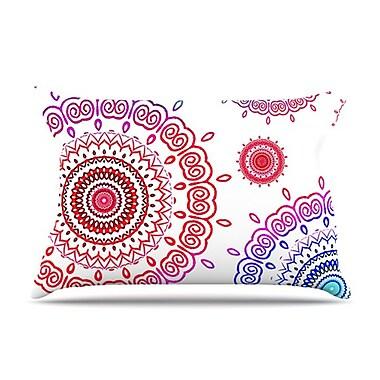 KESS InHouse Rainbow Infinity Pillowcase; Standard