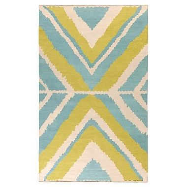 Beth Lacefield Alameda Ivory & Blue Area Rug; 2' x 3'