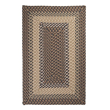 Colonial Mills Tiburon Stone & Blue Braided Indoor/Outdoor Area Rug; 2' x 4'