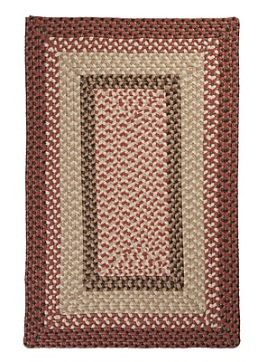 Colonial Mills Tiburon Rusted Rose Braided Indoor/Outdoor Area Rug; Rectangle 4' x 6'