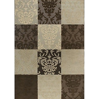 Chandra Calcutta Brown & Tan Indoor/Outdoor Area Rug; 1'11'' x 3'7''