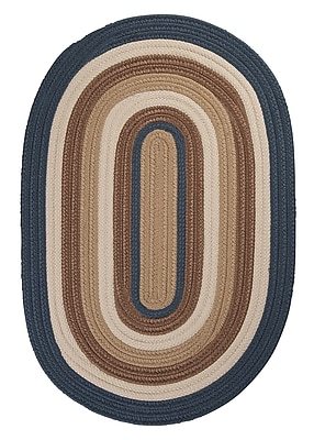 Colonial Mills Brooklyn Blue Haze Braided Indoor/Outdoor Area Rug; Round 6'
