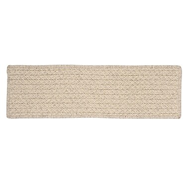Colonial Mills Natural Wool Houndstooth Cream Stair Tread; Set of 13 Stair Treads