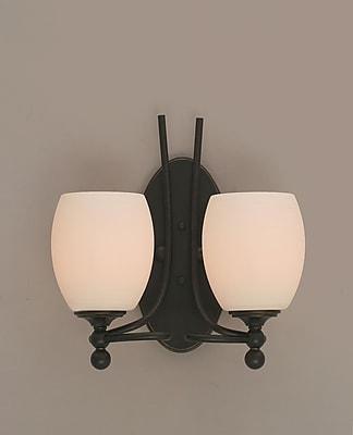 Toltec Lighting Capri 2-Light Vanity Light; White Linen