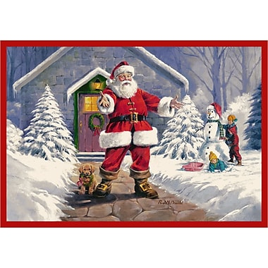 Milliken RJ McDonald Welcome Santa Area Rug; Rectangle 2'8'' x 3'10''