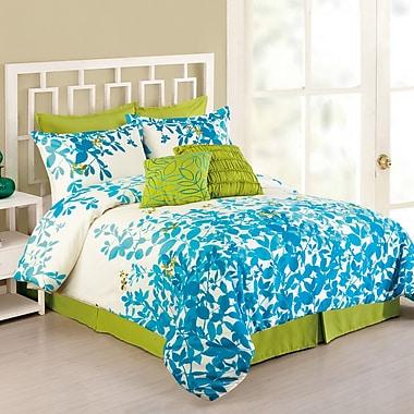 Presidio Square Flourish 8 Piece Comforter Set; King