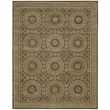 Nourison Versailles Palace Hand-Tufted Mocha Area Rug; 5'3'' x 8'3''