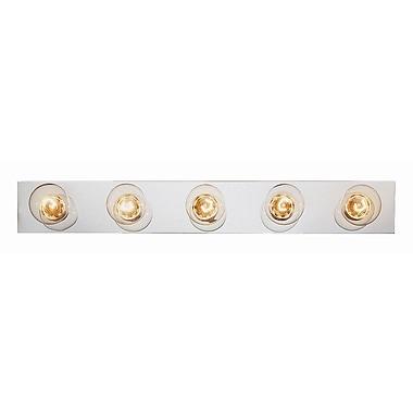 TransGlobe Lighting Builder Basic 5-Light Bath Bar; Brushed Nickel