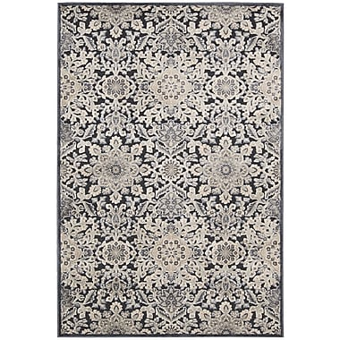 Kathy Ireland Home Gallery Bel Air Marseille Charcoal Area Rug; Runner 2'1'' x 7'
