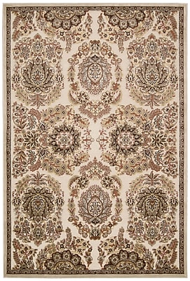 Kathy Ireland Home Gallery Bel Air Versailles Ivory Area Rug; Rectangle 9' x 12'