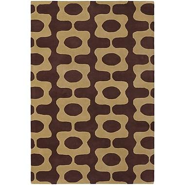 Chandra Inhabit Designer Brown/Tan Area Rug; 7'9'' x 10'6''