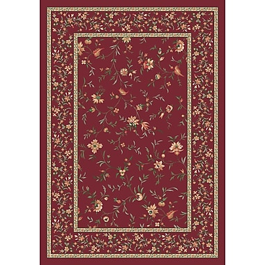 Milliken Pastiche Hampshire Floral Rust Rug; Rectangle 5'4'' x 7'8''