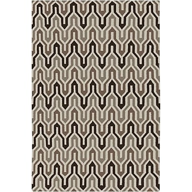 Jill Rosenwald Rugs Fallon Coffee Bean Hand-Woven Chocolate Area Rug; Rectangle 3'6'' x 5'6''