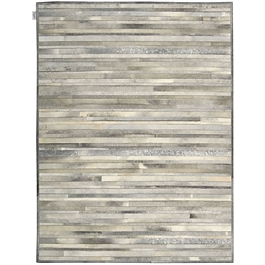 Calvin Klein Rugs Prairie Hand-Woven Arctic Silver Area Rug; Rectangle 9' x 12'