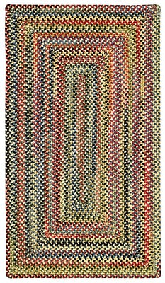 Capel High Rock Yellow Striped Area Rug; Concentric Square 9'6''
