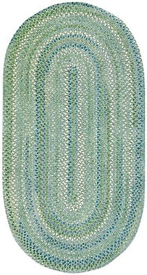Capel Waterway Green Area Rug; Concentric Square 9'6''